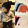 Baby Hot sale spring autumn children knitted cardigan sweater kids long sleeve cotton coat boys girls O-neck outwear clothes