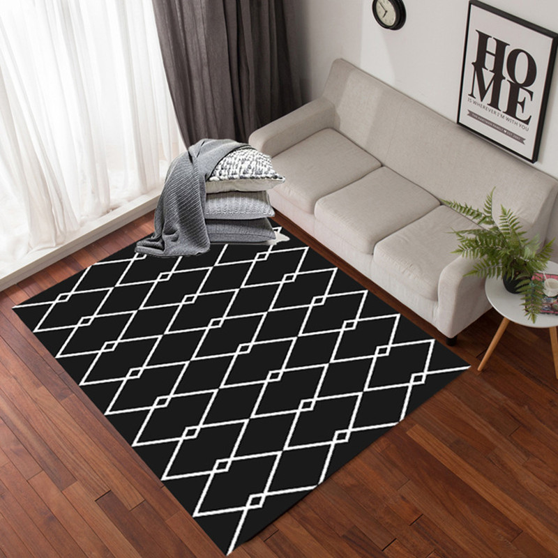 Custom European Modern Carpet Geometric Simple Home Carpets Living Room Study Room Sofa Bedroom Floor Mat Bedside Anti-skid Rug