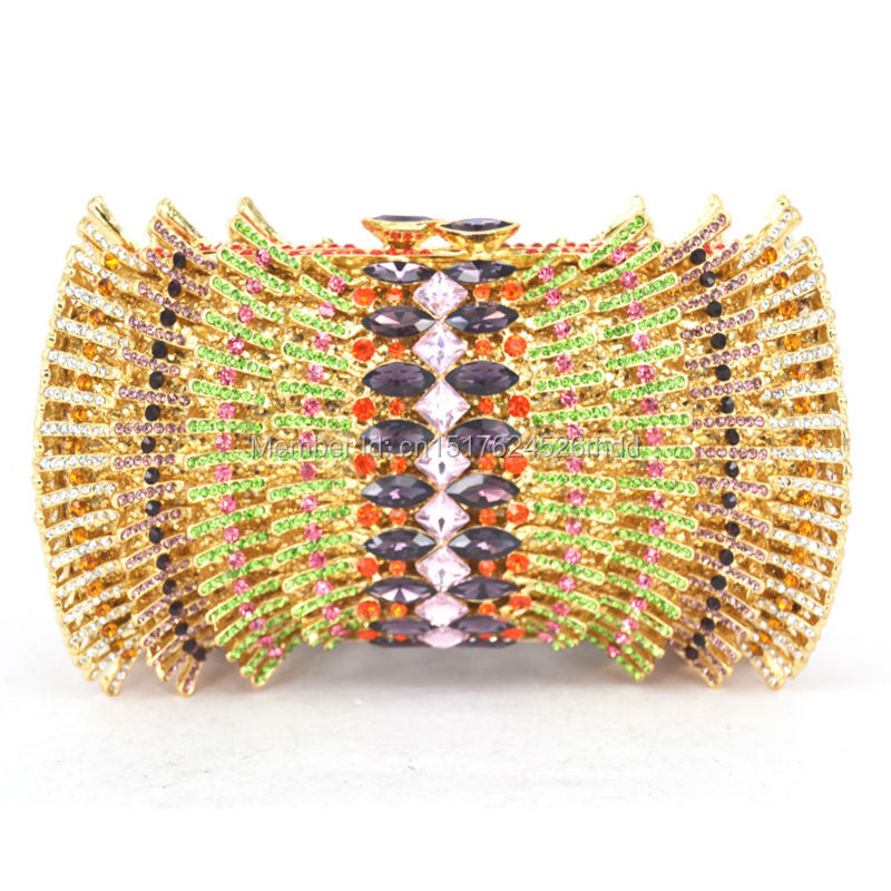Classic Gold Crystal Luxury Clutch Bag Diamond Ladies Clutch Purse Party Wedding Evening Bag  88169 luxury crystal clutch handbag women evening bag wedding party purses banquet