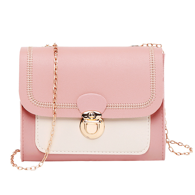 Luxury handbags women bags designer new one-shoulder slung chain fashion lock buckle color square bag crossbody bags for women