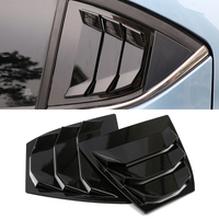 Exterior Accessories Window Side Louvers Vent cover trim ABS 2pcs For Mazda 3 /Axela 2014 2018