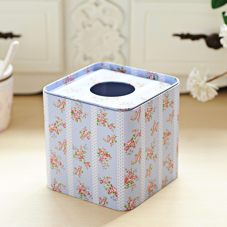 ₩Envío Gratis light blue flower design papel facial caso servilleta ...