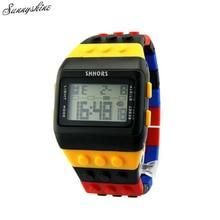 Moda Unisex Relojes de Plástico de Colores Mujeres hombres Reloj Digital Resistente Al Agua Reloj de Pulsera al por mayor