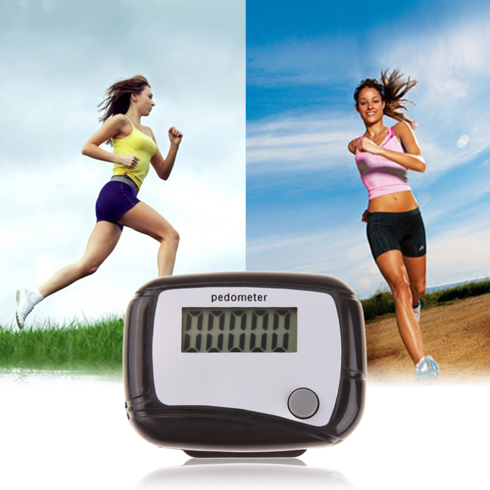 Digital LCD Display Pedometer Design Fitness Run Step Walking Distance Calorie Counter F ...