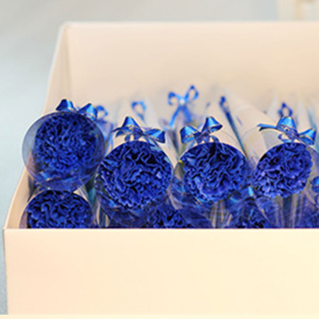 New Carnation Shaped Soap Decoration Soap Carnation Flower Petals Bath Soap Essential Oil Carnation Soap Valentine's Day Gift
