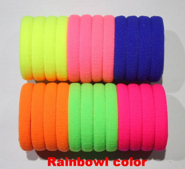 50pcs/lot Candy Colored High Quality Hair Holders