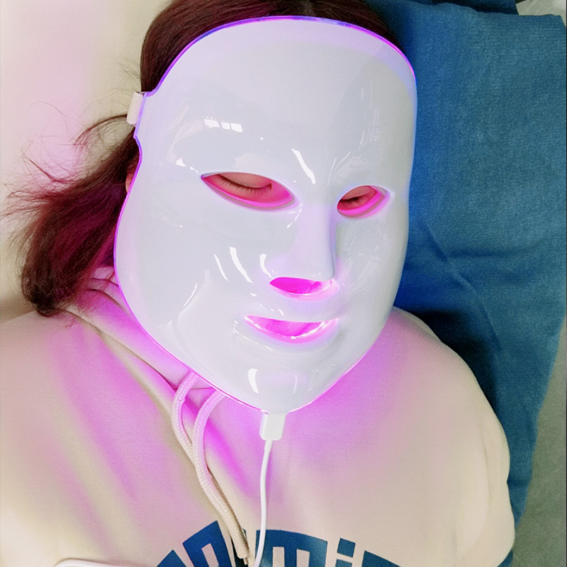 7 Colors Beauty Therapy Photon LED Facial Mask Light Skin Care Rejuvenation Wrinkle Acne Removal Face Beauty Spa Instrument 2017 newest 7 color light photon led facial mask skin care rejuvenation wrinkle acne removal face beauty spa instrument us plug