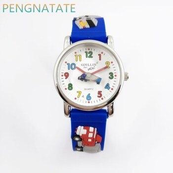Willis fashion child waterproof 3d lorry cartoon design analog wrist watch children clock kid quartz wrist.jpg 350x350