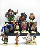 10pcs/lot Moana Princess Maui Chief Tui Tala Heihei Pua Villager Tamatoa Dolls PVC Action Figure Toys Brinquedos 5-11cm