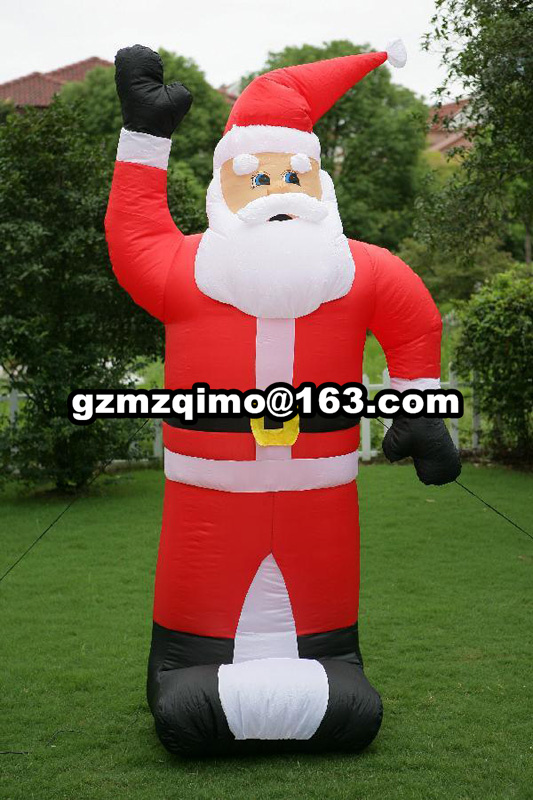 Christmas Decor 1.8m/5.9ft Waving Hand Father Christmas Inflatable Santa Claus Xmas Outdoor Christmas Decoration for Home outdoor christmas decoration inflatable santa claus 20ft high 6m high factory direct sale bg a1188 toy