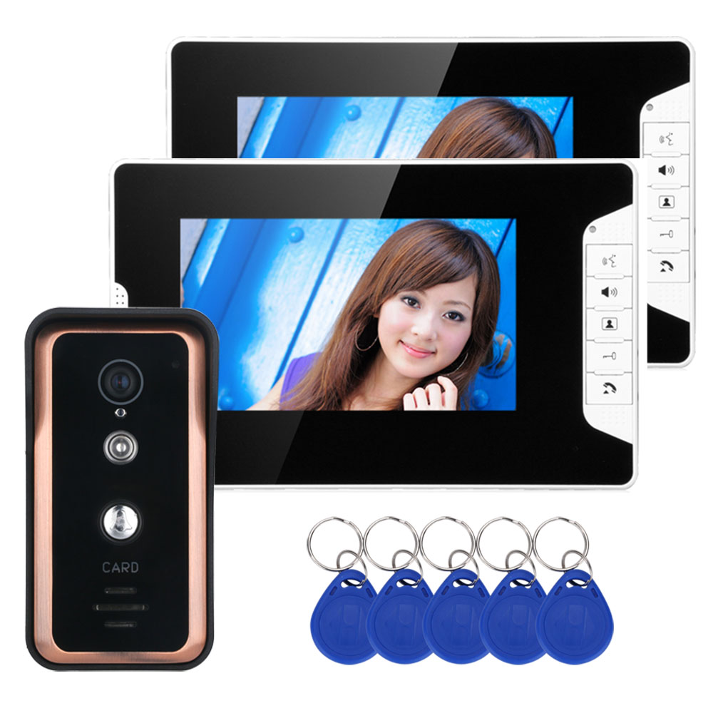 Yobang Security Video Intercom 7Inch Monitor Wired Video Doorbell Door Phone Intercom RFID Access Control Camera Entry SystemYobang Security Video Intercom 7Inch Monitor Wired Video Doorbell Door Phone Intercom RFID Access Control Camera Entry System