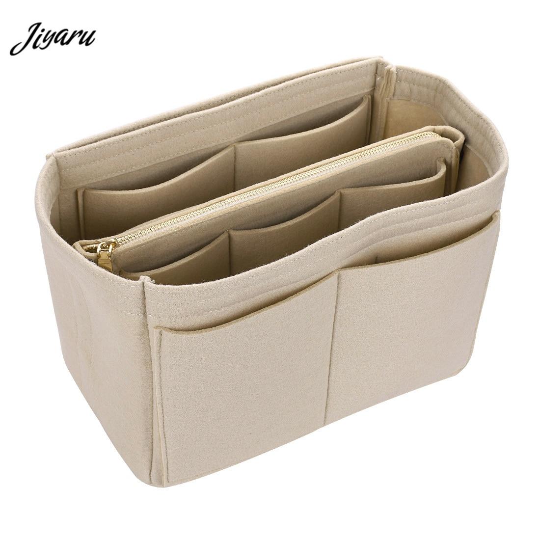 Las chicas neceser bolsos de viaje de las señoras organizador mujeres fieltro tela insertar bolsas mujer hacer casos multifuncional bolsas de cosméticos