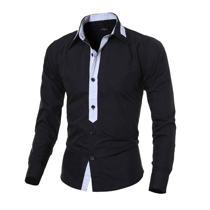 Herrenhemd 2018 Fashion Brand Herren Langarmhemd Herren Camisa - Herrenbekleidung - Foto 1