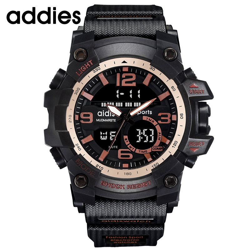AIDIS Men Military Watch 30m Vattentät Armbandsur LED Quartz Clock - Herrklockor - Foto 3
