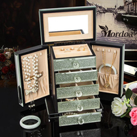 Mordoa High end Rings Jewelry Box European Princess Jewelry Box Jewelry Storage Box Cosmetic Box Birthday Gift to Send Gifts