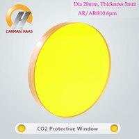 Carmanhaas ZnSe CO2 לייזר באיכות גבוהה להגן על חלון זכוכית מגן מכונת לייזר Dia 20 מ