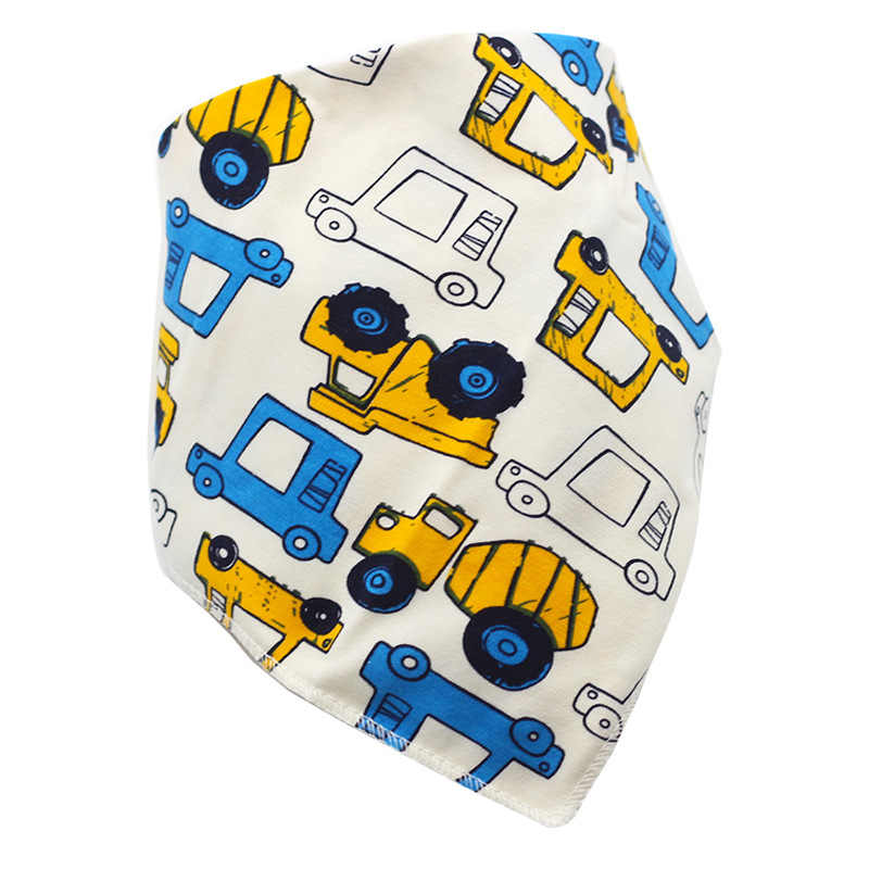 1pc Baby Boy Girl Bibs Cotton Cartoon Car Child Bandana Bib Newborn Absorbent Burp Cloth Bebe Girls Stuff Accessories