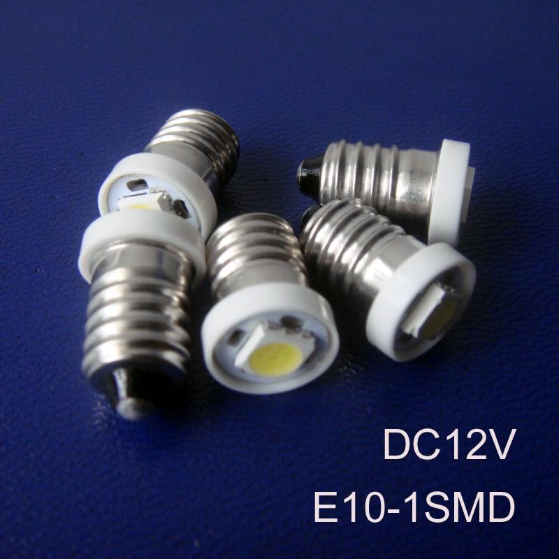 High quality 12v E10 led lights,E10 12vdc LED Car Signal Light,Indicator Light,Pilot Lamp LED E10 lamp free shipping 1000pcs/lot