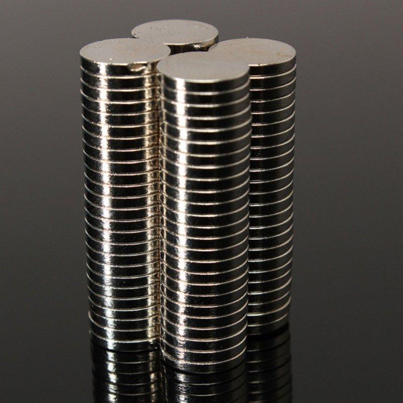 High Quality100 Pcs/Set 10mm*1.5mm Thin Neodymium Magnets Rare Earth N50 Neodymium Permanent Super Strong Magnetic Disc