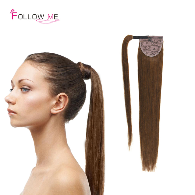 Peruvian Real Human Hair Ponytail Extensions 100g Human Straight