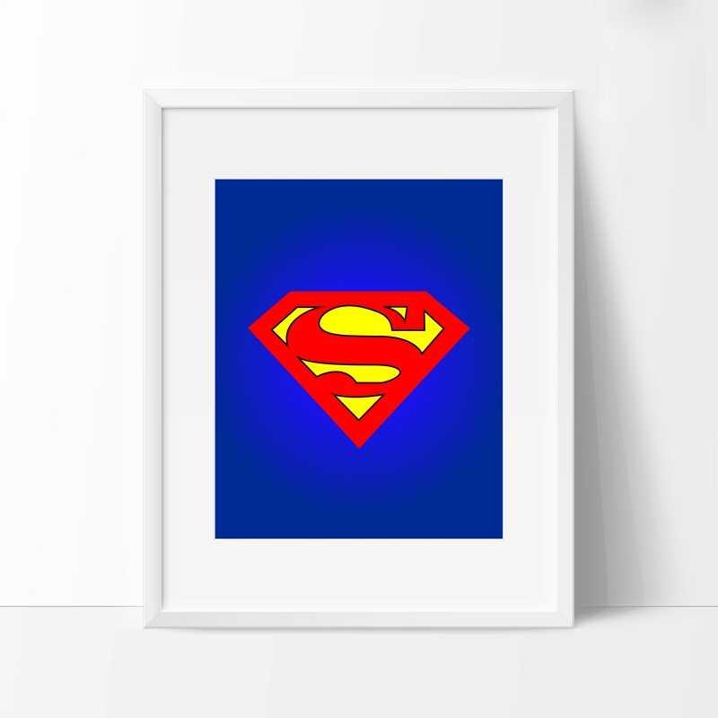 배트맨 수퍼맨 보이 영웅 캔버스 포스터 회화 만화 슈퍼 영웅 es 로고 인쇄 벽 그림 어린이 방 장식