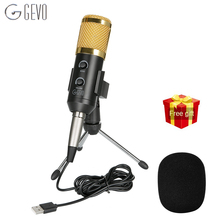 GEVO BM 900 USB Microphone For Computer Wired Condenser Studio Mic For Karaoke PC With Stand Tripod NB 35 Upgraded From BM 800 цены онлайн