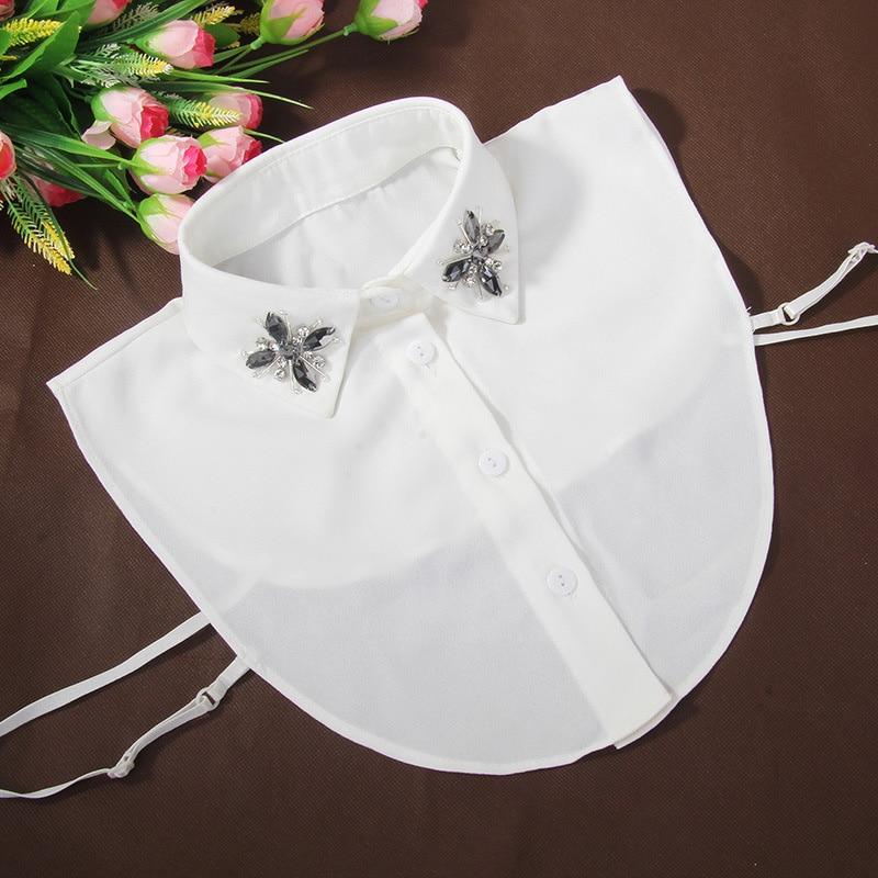 Shirt Fake Collar For Women Artificial Diamond Pearl Lapel Fake False Collar Half Shirt Detachable False Collar