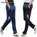 Hombres Primavera/verano adolescentes masculinos pantalones de chándal de algodón de Corea Del Sur slim fit moda casual Jogger pantalones largos