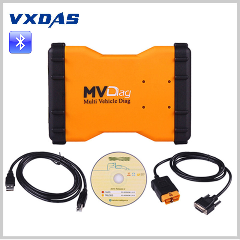 ФОТО MVDIAG With Bluetooth Multi-vehicle MVDiag V5.008 Same AS TCS CDP TCS CDP PRO PLUS NEW VCI Multidiag CDP 3IN1 Diagnostic Tool