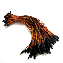 300mm 22AWG 100pcs/lot Futaba JR male and female plug cables wiring RC servos extension Lead wire cable  Free shipping