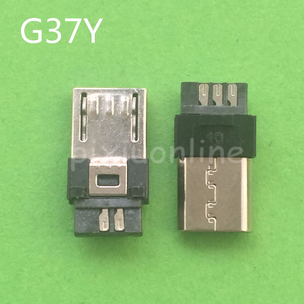 10pcs G37Y Micro 5pin Male Plug Connector Welding Type For Tail Charging Mobile Phone Sale At A Loss Brazil