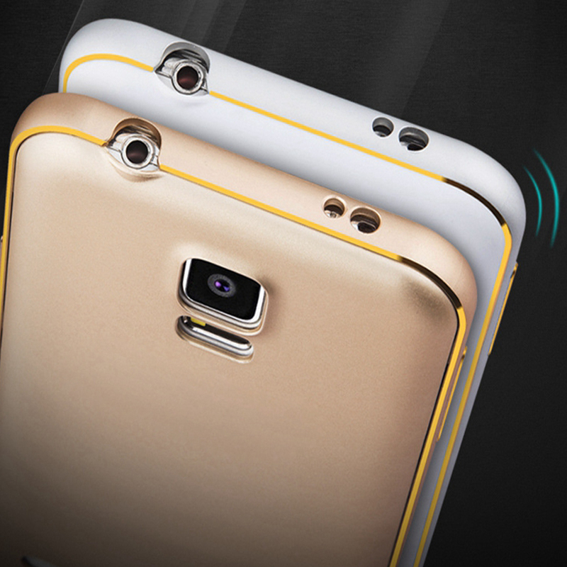 For Samsung S5 Case Luxury 3D Arc PC Gold Plating Hybrid Back Cover For Samsung Galaxy