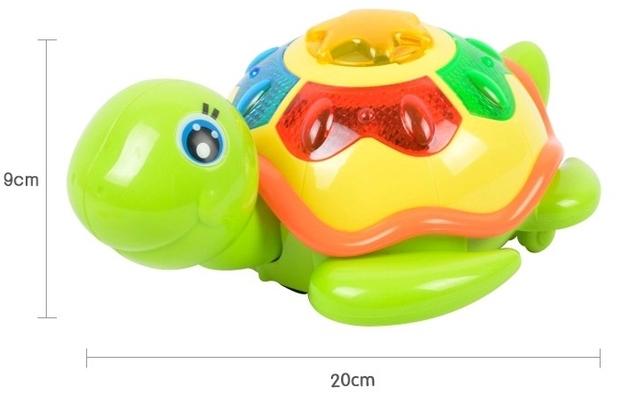 Vai colocar a tartaruga elétrica universal roda de cor deslumbramento luz música infantil brinquedos educativos para crianças, brinquedos do bebê