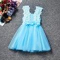 2017 Baby Girl Цветы Dress Для Свадьбы Детей Принцесса Костюм Дети Крещение одежда 1 Лет День Рождения Платья Для Девочек