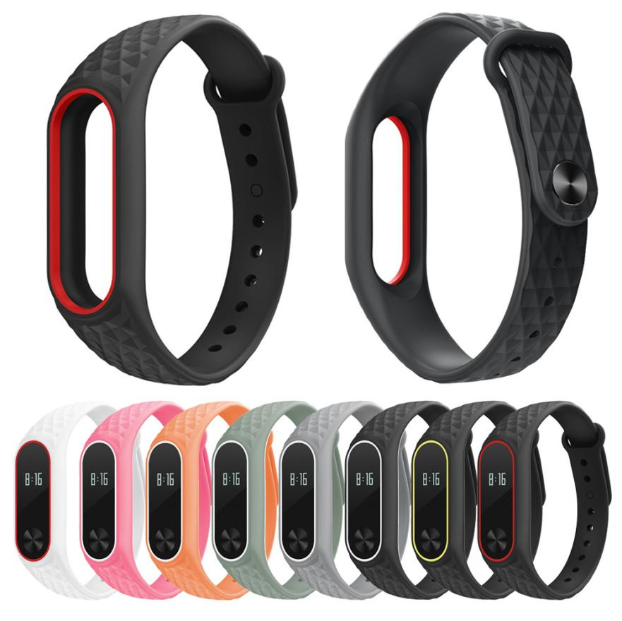 18MM Light Silicon Wrist Strap WristBand Bracelet Replacement For XIAOMI MI Band 2