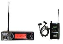 Staraudio Palco Pro UHF sistema de monitor de IR fone de Ouvido Estéreo de Áudio Sem Fio de Bolso SMSU-0208