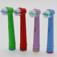 4 pces crianças cabeças de escova escova de dentes elétrica para oral b/braun/smartseries/trisone/advance power/pro saúde/triumph/3d950tx