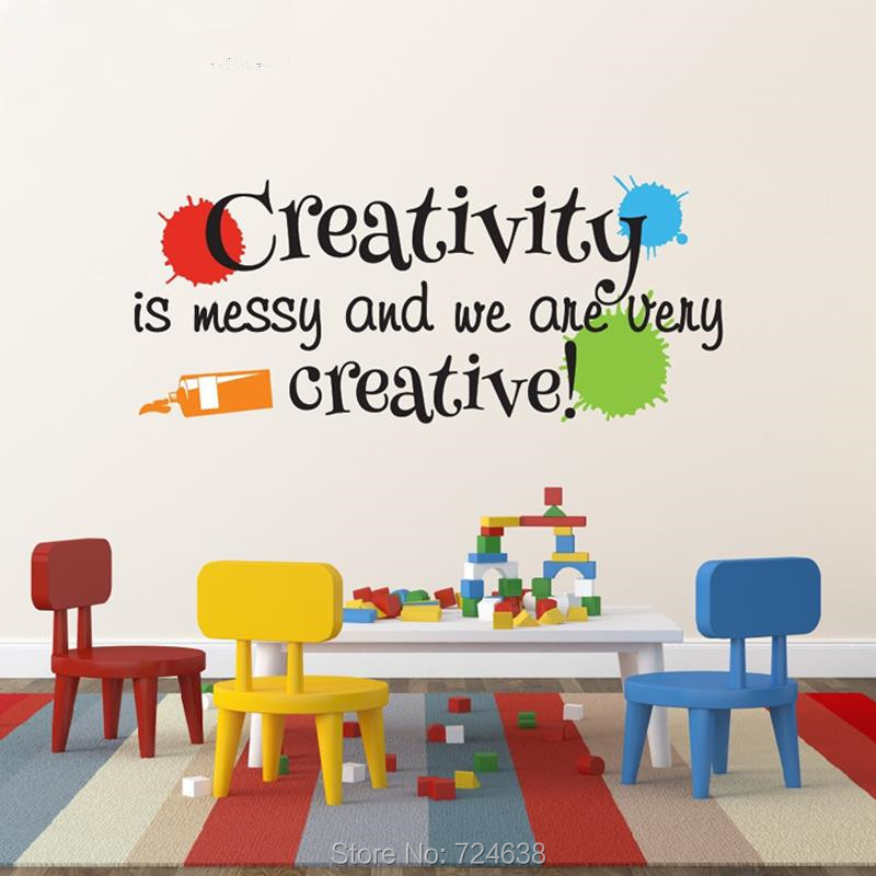 Messy Walls But I Like It: Playroom Wall Decal Creativity Is Messy And We Are Very