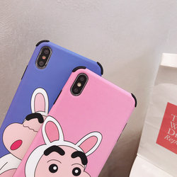 Luxury Brand Case for iPhone X Case iPhone XR XS MAX 6 S 7 8 Plus Cartoon Crayon Shin Chan Japan Soft Silicon Cover Phone Coque 6
