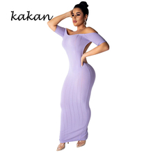 Kakan 2019 new summer womens dress fashion sexy backless tube top short sleeve pink yellow purple black