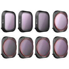 Freewell ALL DAY 4K Series 8 แพ็ค ND4,ND8,ND16,CPL,ND8/PL, ND16/PL,ND32/PL,ND64/PL กล้องเลนส์สำหรับ DJI Mavic 2 Pro Drone