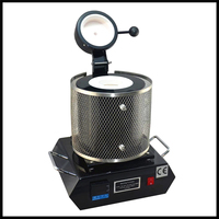 Electric Jewelry Melting Making Furnace 1/2/3KG, Melting Aluminum, Copper, Gold, Lead, Silver Induction melting ovan furnace