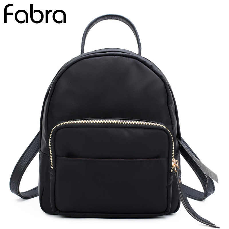 49a5bcb30476 Fabra Nylon Waterproof Women Backpack Fashion Small School Shoulder Bags  Backpacks Girls Travel Travel Backpacks Daypacks