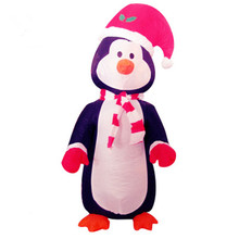 цена на Inflatable Christmas Decoration Outdoor Penguin Deer Elephant Dolls Cartoon with Light Cartoon Decor for Home Yard Garden