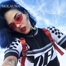 MOLAUNA Fashion Sunglasses Women Luxury Brand Designer Alloy Sun Glasses Retro Alloy Shades Mirror Glasses Eyewear Oculos De Sol molauna round sunglasses women brand designer retro sun glasses for women fashion mirror shades female glasses oculos de sol