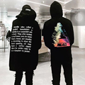 Very good quality oversized Embroidered hoodie with letters men women hip hop hoodies streetwear urban clothes black cool hoody
