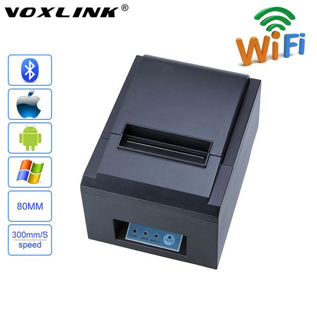 Voxlink 80mm cortador automático impresora térmica de recibos para el teléfono android ios windows 300 mm/s impresora térmica para ipone ipad huawei_dhl