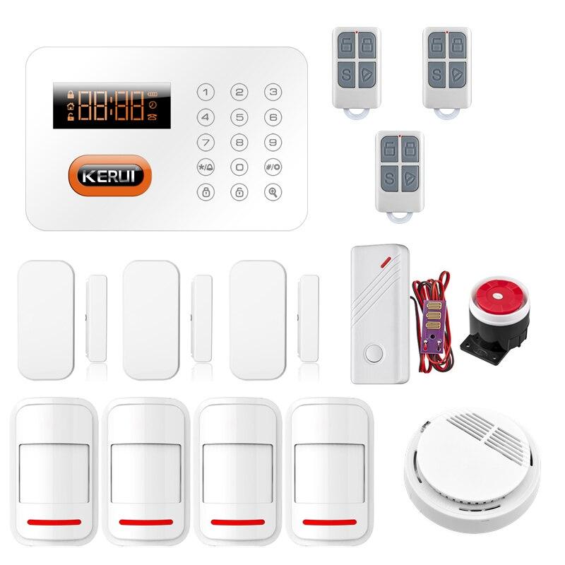 X1 Intelligent Home Alarm PSTN ADSL Home Security Burglar Alarm System Wireless Smoke Sensor Water Leak Detector Alarm