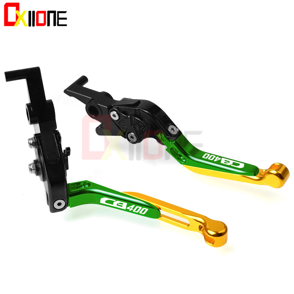 Motorcycle Brake Clutch Levers For Honda CB 400 1996 CNC Adjustable Folding Extendable Motorbike Accessories