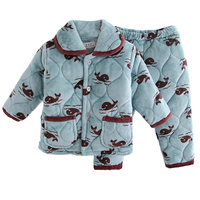 New Arrival Autumn And Winter Children Flannel Pajamas Girls Boys Coral Cashmere Suit Children Baby Cotton